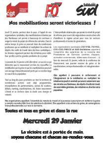 Nos mobilisations seront victorieuses !