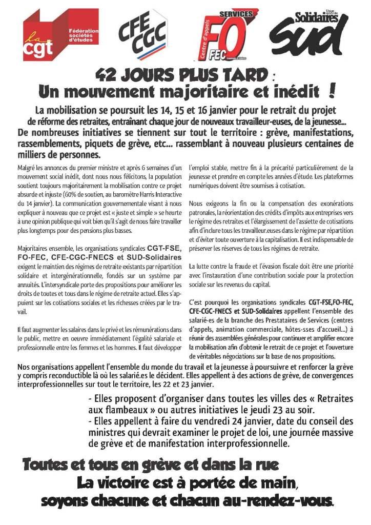 42 JOURS PLUS TARD : Un mouvement majoritaire et inédit !