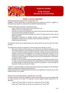 Projet loi retraites : Etude d'impact – Décision du Conseil d'Etat