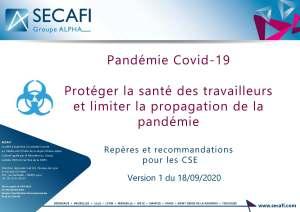 Pandémie Covid-19 : Protéger la santé des travailleurs et limiter la propagation de la pandémie