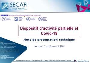 Dispositif d'activité partielle et Covid-19