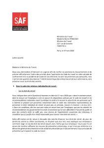 Lettre ouverte du Syndicat des Avocats de France à la Ministre du Travail