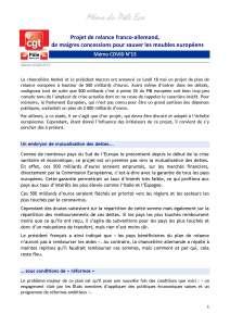 Mémo du Pôle Eco – Mémo COVID N°15 : Projet de relance franco-allemand, de maigres concessions pour sauver les meubles européens