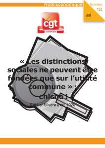 Note Économique n°153 : « Les distinctions sociales ne peuvent être fondées que sur l'utilité commune » : chiche !
