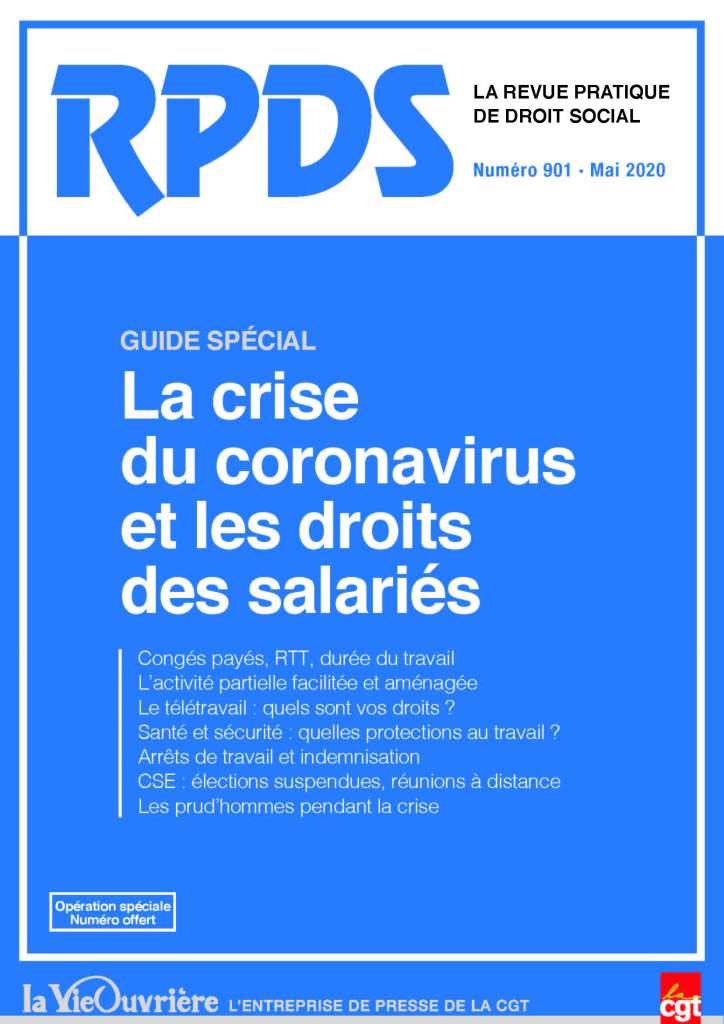 RPDS n°901 – Mai 2020 : La crise du coronavirus et les droits des salariés