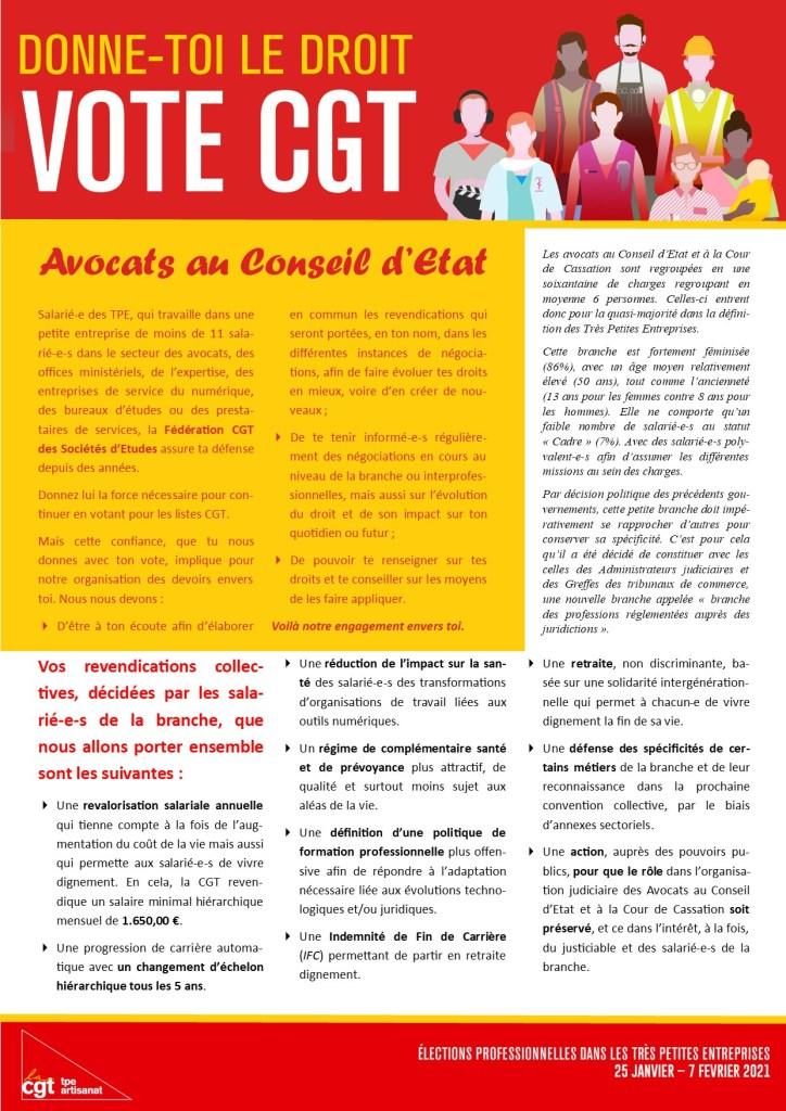 Avocats au Conseil d'Etat : Donne-toi le droit