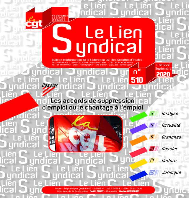 Le lien syndical n°510 – Septembre 2020
