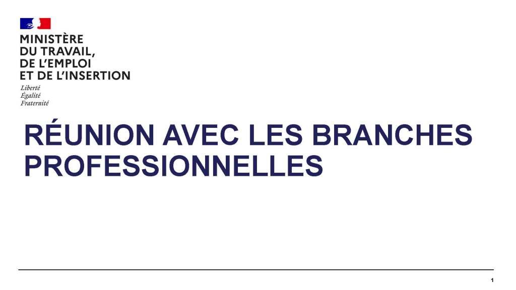 APLD : Réunion avec les branches professionnelles