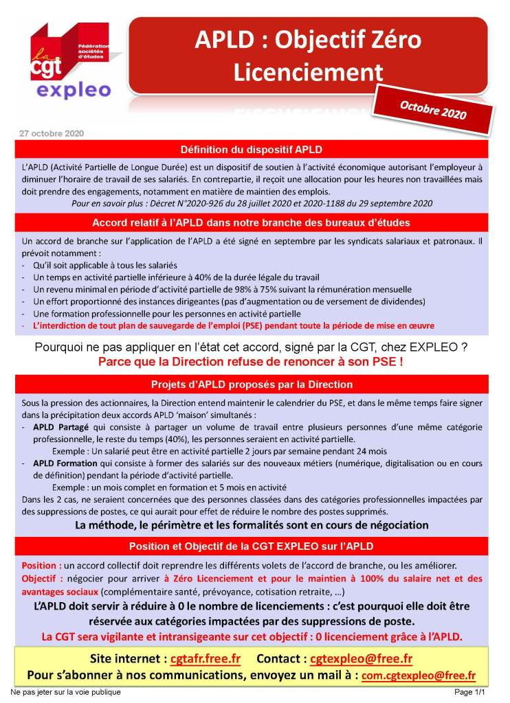 Expleo : APLD : Objectif Zéro Licenciement