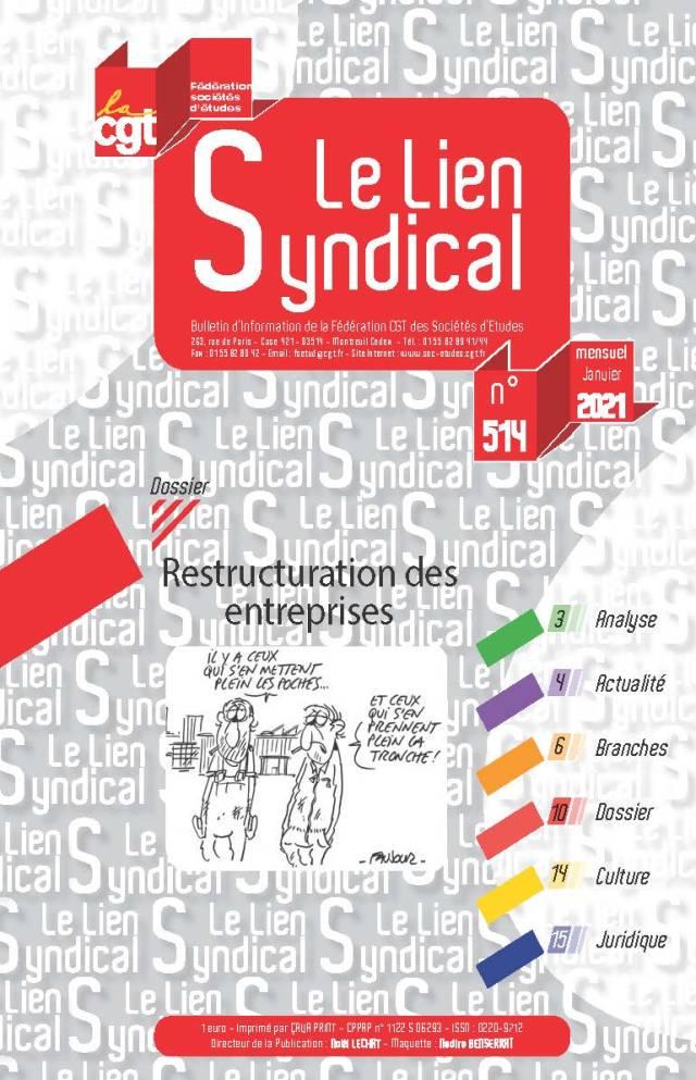 Le lien syndical n°514 – Janvier 2021