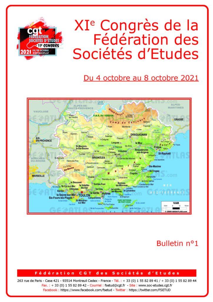 11e Congrès : Bulletin n°1