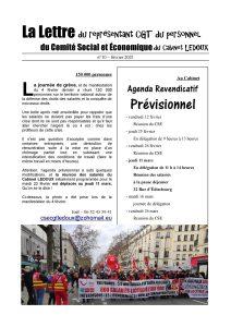 La Lettre du représentant CGT du personnel du Comité Social et Économique du Cabinet LEDOUX N°10 – Février 2021