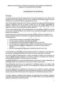 Accord télétravail dans les BETIC : Projet d'accord CFDT-CGT