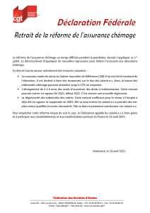 Retrait de la réforme de l'assurance chômage