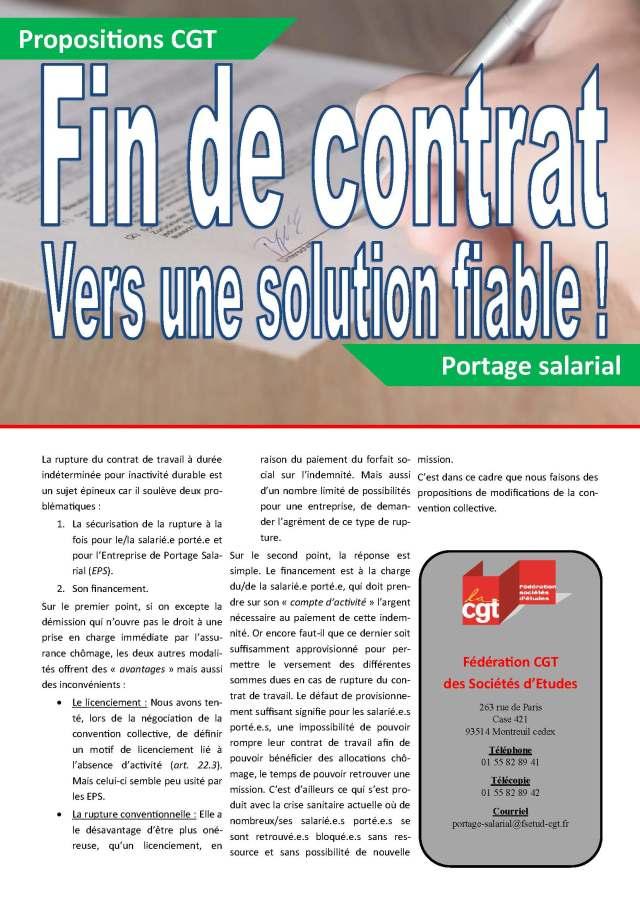 Fin de contrat : vers une solution fiable !