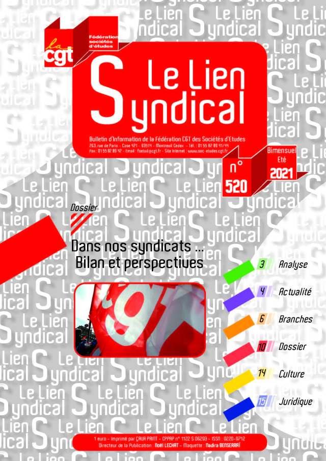 Le lien syndical n°520 – Eté 2021