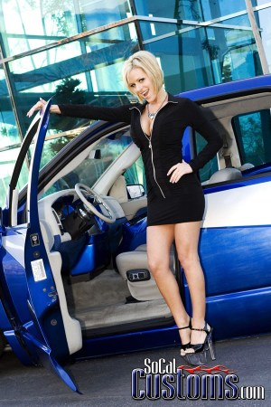 SoCalCustoms  Feature Truck with model Jenny P