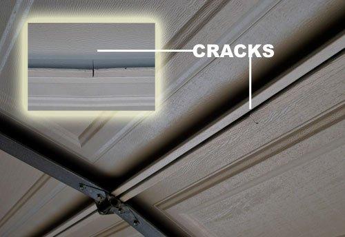 Damaged Garage Section  Repair Bent Garage Door Section