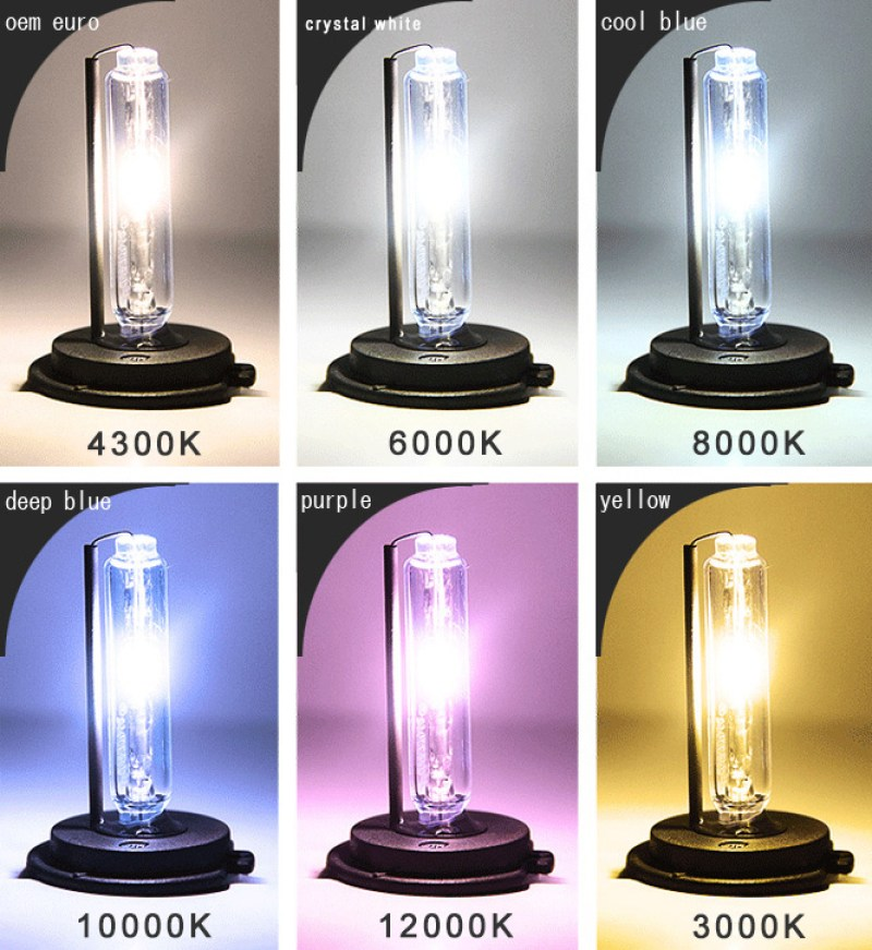 hid bulb color chart
