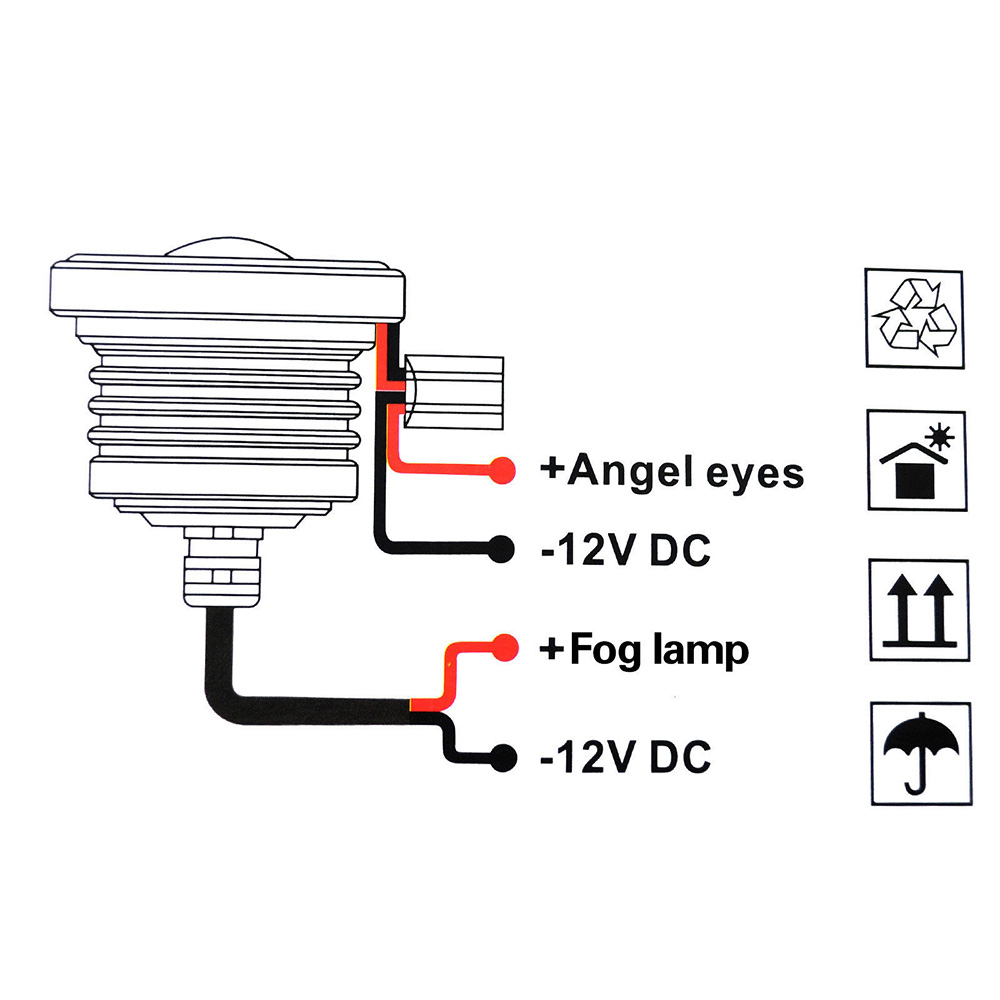 medium resolution of led angel eye cob fog light white 7 m939 turn signal wiring diagram humvee wiring diagram wiring gm turn signal switch diagram at
