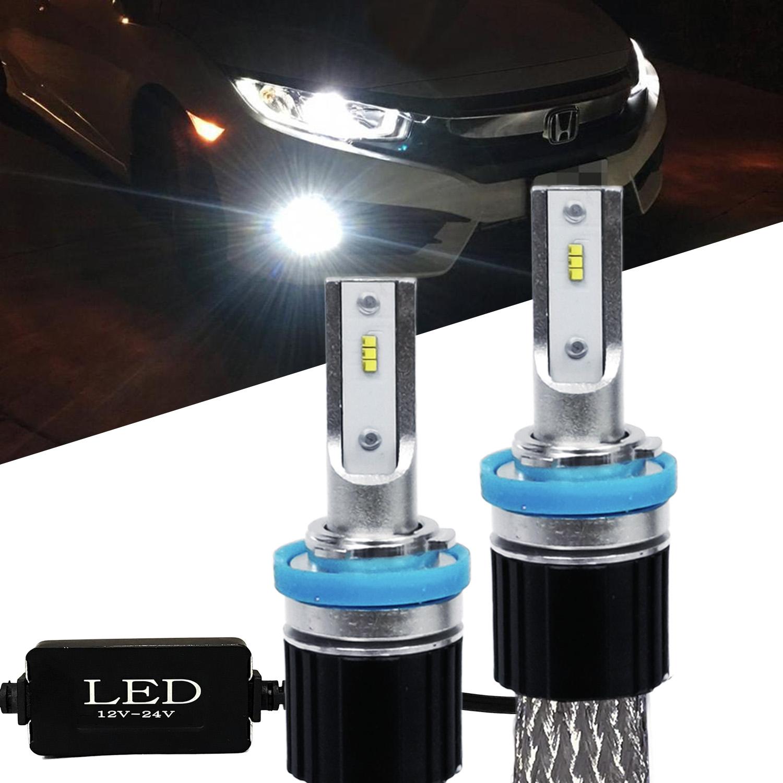 Fanless LED Headlight Kit 9006 6000K White Canbus Conversion Bulbs Fog Light
