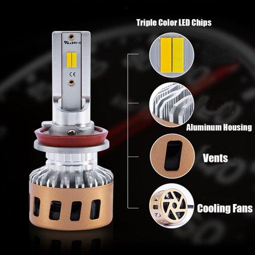 LED Headlight Kit Switchback Yellow White