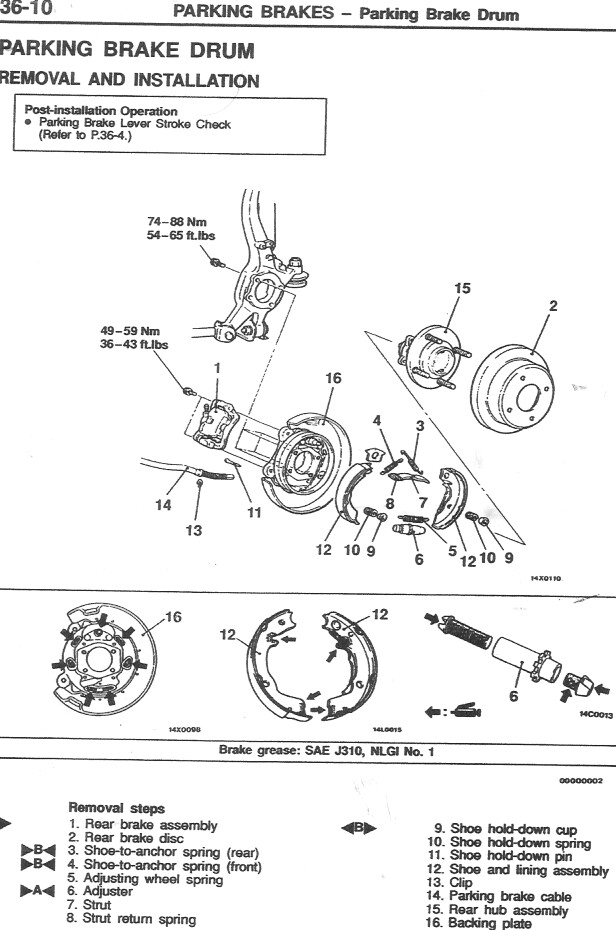 Service manual [Remove 2004 Mitsubishi Galant Brake Drum