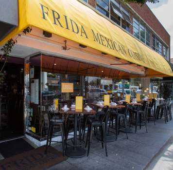 The exterior of Frida in Beverly Hills.