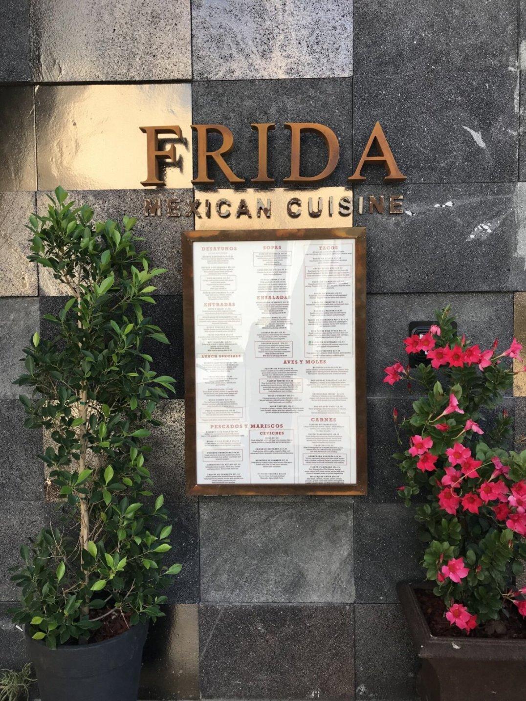 Frida's outdoor menu.