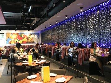The interior dining area of Frida's Cerritos branch.