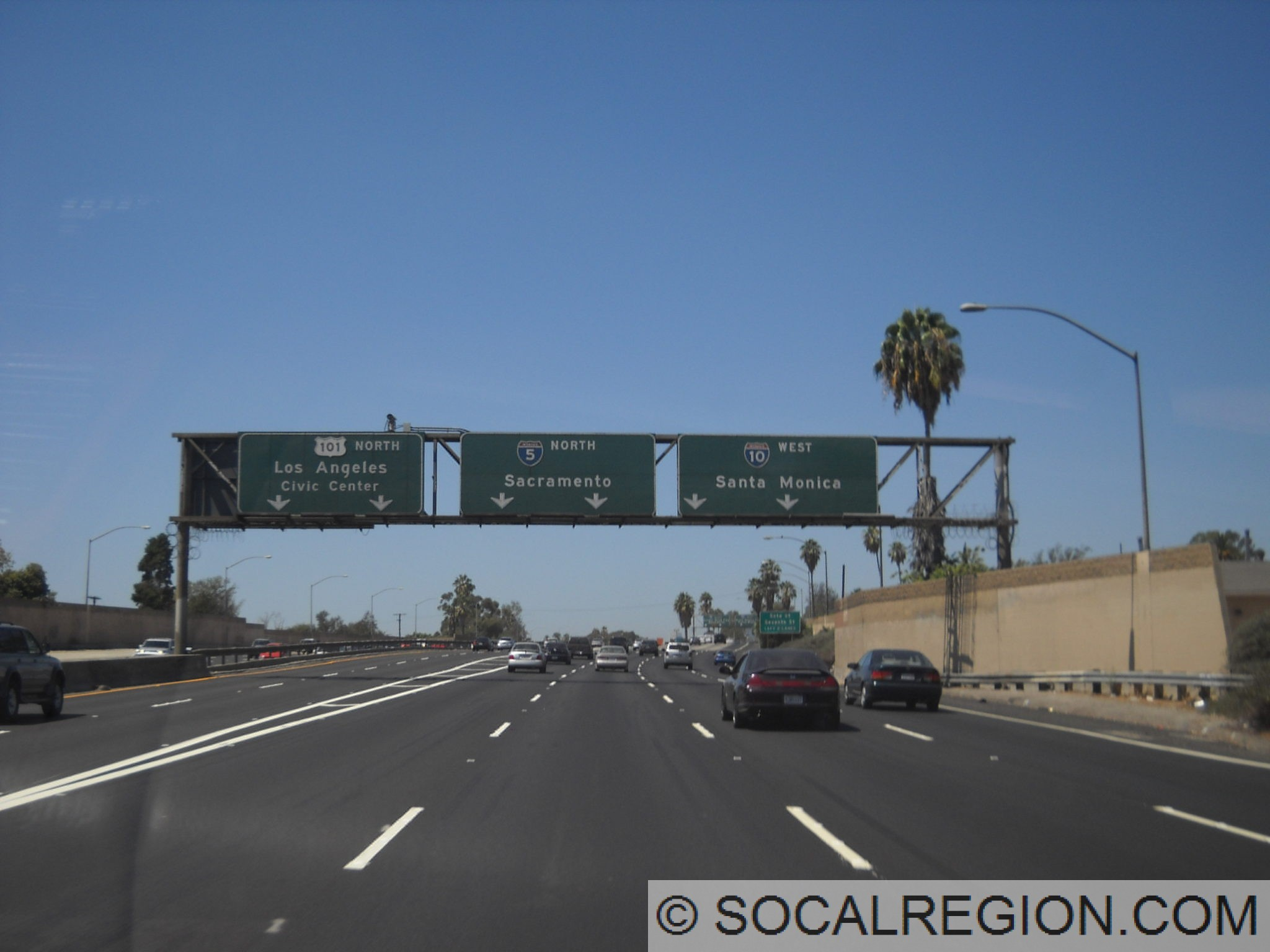 East los angeles interchange complex southern california santa ana freeway split with us 101 i 5 and i 10 sciox Choice Image