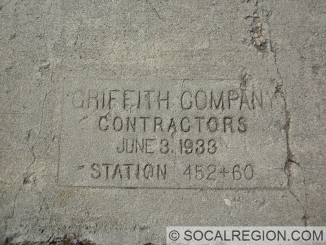 Stamp from 1933 on the old concrete alignment.