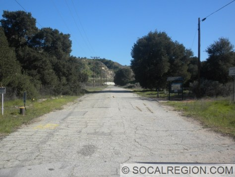 Southerly view of the original alignment. This was bypassed in 1930.