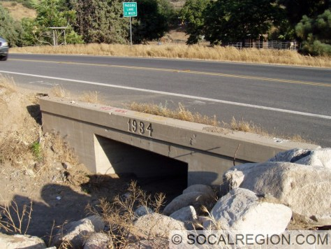 1934 culvert under Sierra Highway below Summit.