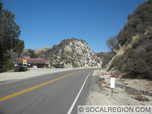 Store and road cut a few miles east of Agua Dulce Canyon Road.