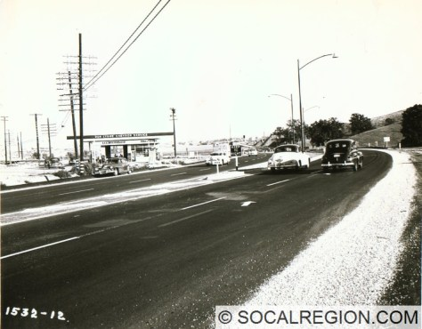 Saugus Junction, looking southerly in 1949.