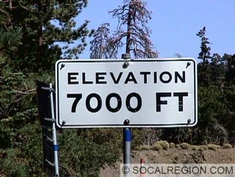 Old elevation sign, just east of Blue Ridge Saddle.