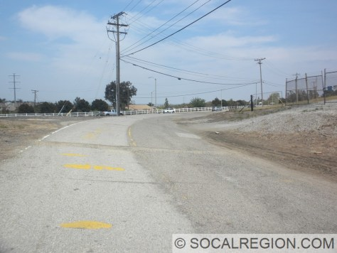 Old alignment of 142 at Chino Hills Pkwy and Carbon Canyon Rd.
