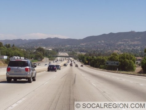 Passing through the Conejo Valley, near Wendy Dr.