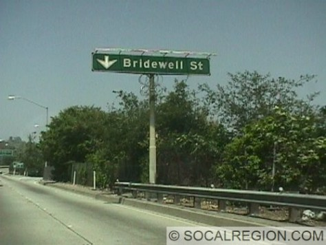 Bridewell Ave - Actual exit is in the background to the right.