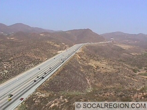 View of the freeway near Vasquez Rocks.