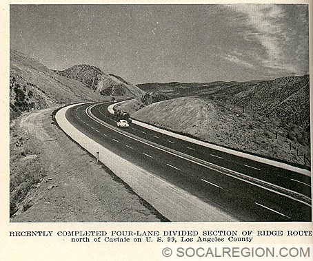 This photo shows the highway in 1948 near the top of the grade just after it was widened.