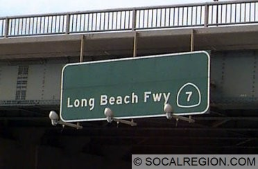 Here is the other one. On the freeway in Long Beach, this sign is not actually on Rt 710.