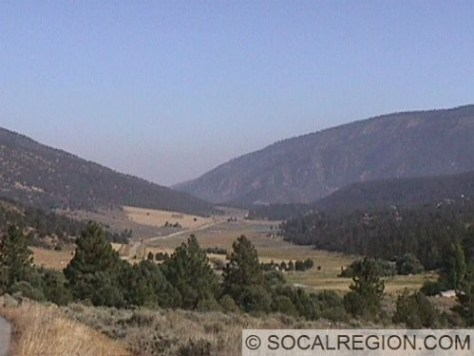 View easterly of part of Cuddy Valley. A fault scarp is visible on the right side of the valley.