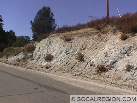 Close-up of fault gouge along Pine Canyon Road (County Road N2).