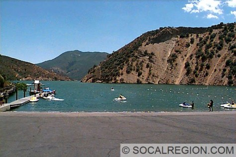 Location where US 99 went into Pyramid Lake.