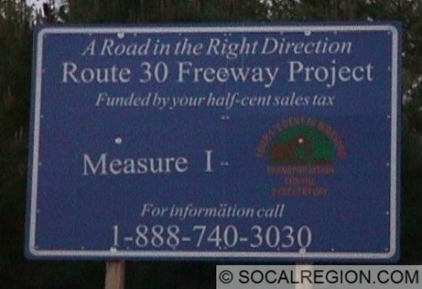 Here is a sign of the construction from before the redesignation to Route 210.