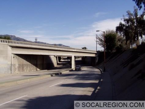 San Fernando Road Overcrossing and railroad overhead.