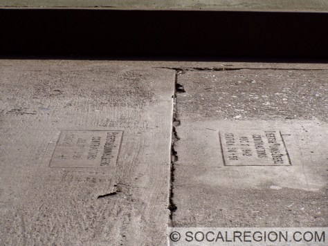 1941 date stamps on the concrete roadway.
