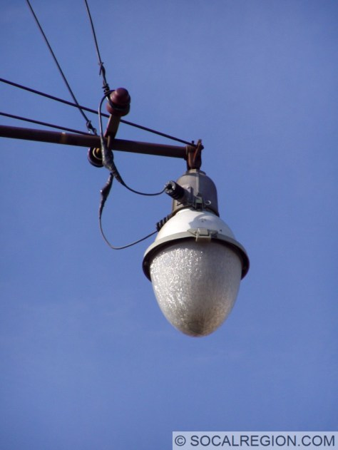Closeup of the old light.